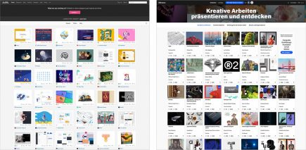 dribbble vs. behance - spot the difference